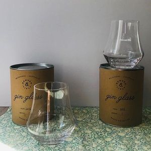 Set of 2 Denver and Liely handblown glasses